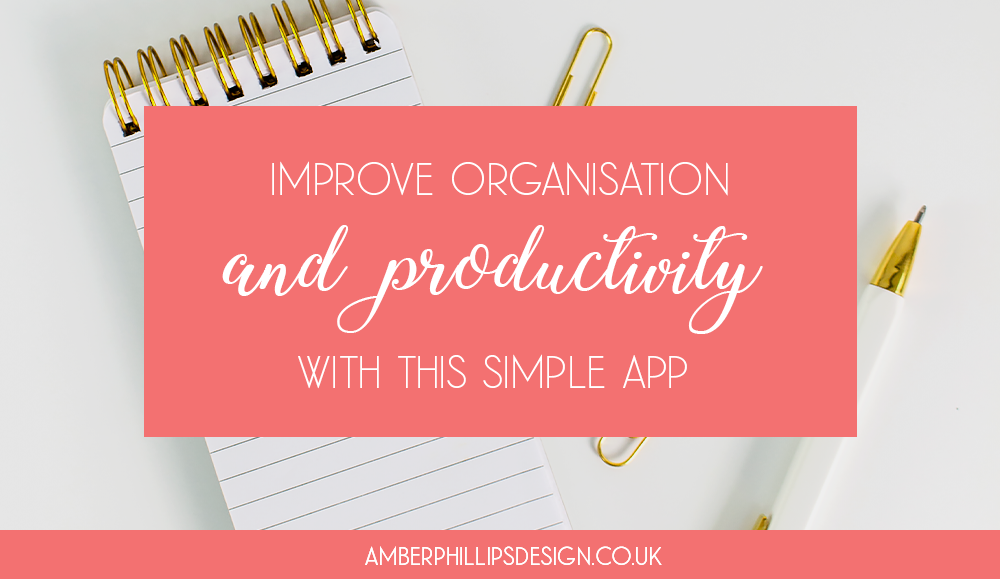 Improve organisation and productivity with this simple app