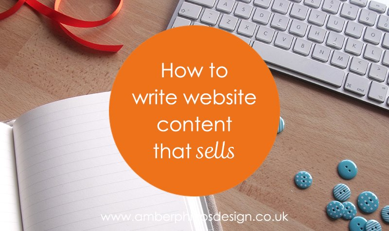 How to write website content that sells
