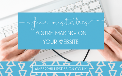 5 mistakes you're making on your website