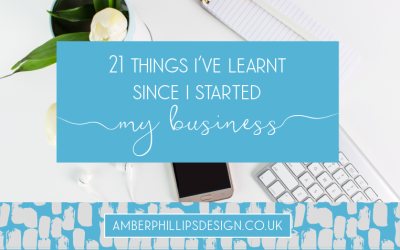 21 Things I've Learnt Since I Started my Business